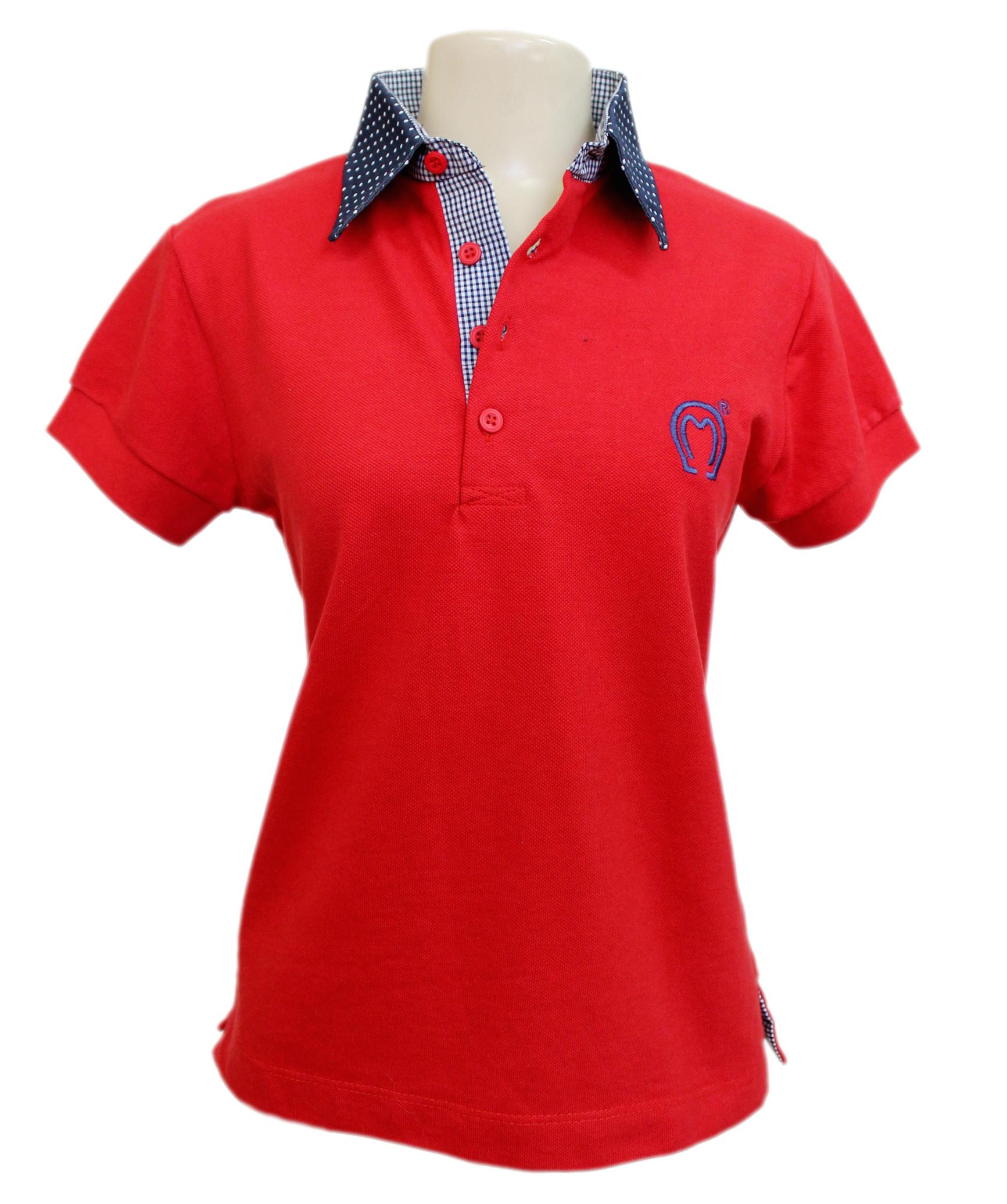 camisa polo com logo bordado