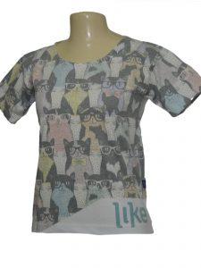 camisa feita com malha pet