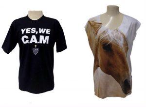 camisetas que mostram paixões